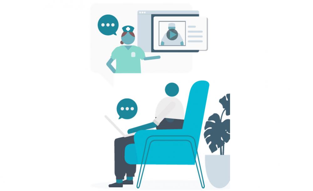 patient interacting with force patient care platform
